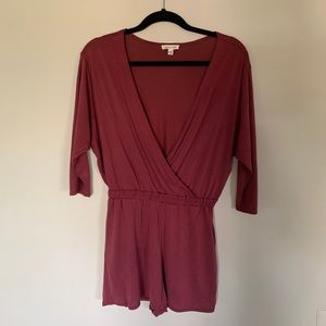 Urban Outfitters | Silence + Noise Maroon Romper